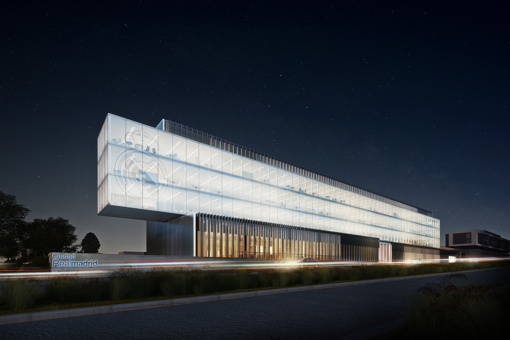 Innovative architect offices architects of light towers - Oficinas real madrid ...